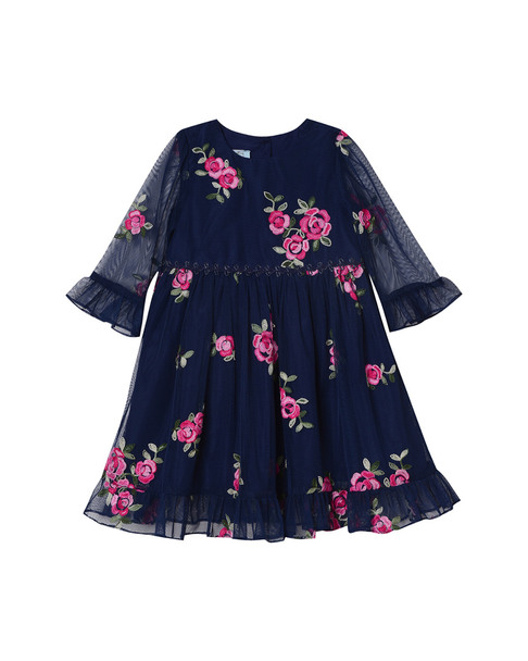 Pastourelle Embroidered Rose Dress~1511821614