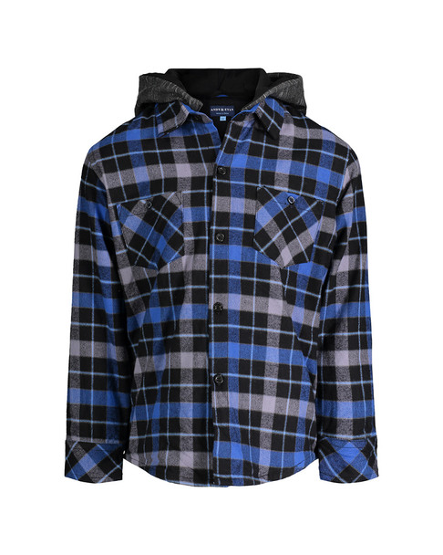Andy & Evan Hooded Flannel Top~1511843490