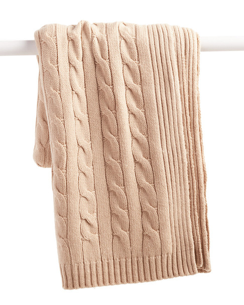 a & R Cashmere Cable Knit Cashmere-Blend Throw~3030782352