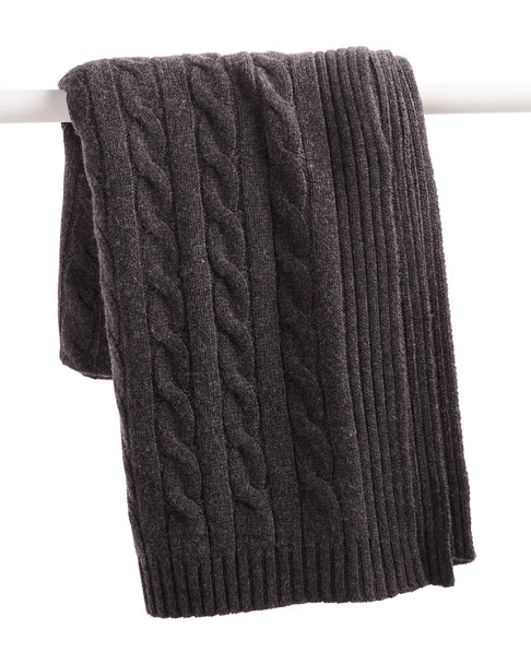 a & R Cashmere Cable Knit Cashmere-Blend Throw~3030782355