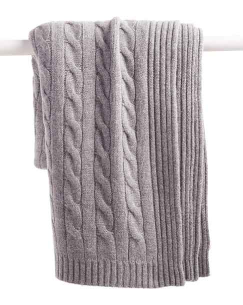a & R Cashmere Cable Knit Cashmere-Blend Throw~3030782356