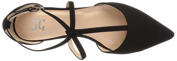 Brinley Co Womens keiko Closed Toe Ankle Strap Slide Flats~pp-1e25d561