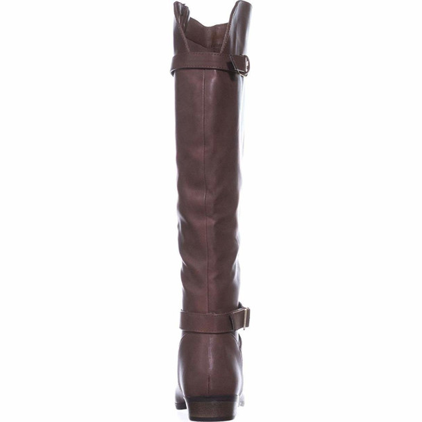 Material Girl Womens Carleigh Faux Leather Knee-Length Riding Boots~pp-25b4b66c