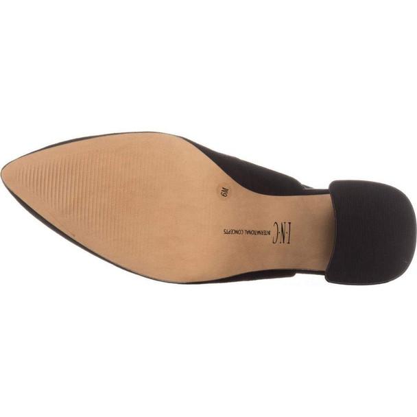 INC International Concepts I35 Talool Sling-Back Heels, Black Suede~pp-467be896
