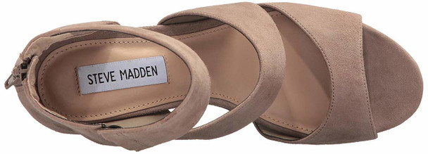 Steve Madden Womens essex Suede Open Toe Casual Platform Sandals~pp-4f180d72