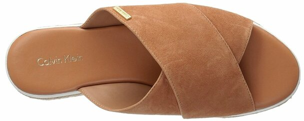 Calvin Klein Womens Jupare Suede Open Toe Casual Espadrille Sandals~pp-644b6b2f
