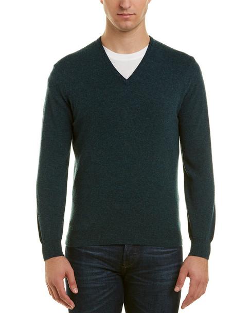 Turnbull & Asser Merino Wool V-neck Sweater~1010948584