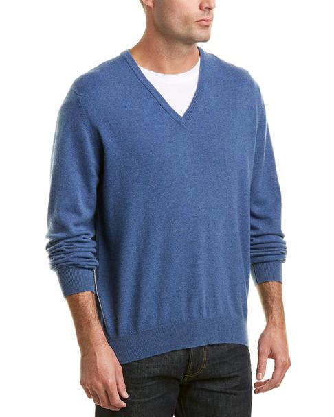 Turnbull & Asser Merino V-Neck Sweater~1010948590