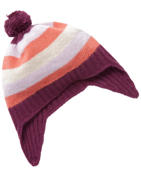 Portolano Cashmere Stripe Earflap Hat~1111976301