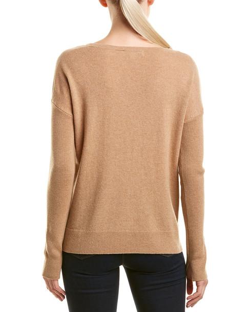 White + Warren Wool & Cashmere-Blend Split Neck Pullover~1411221493