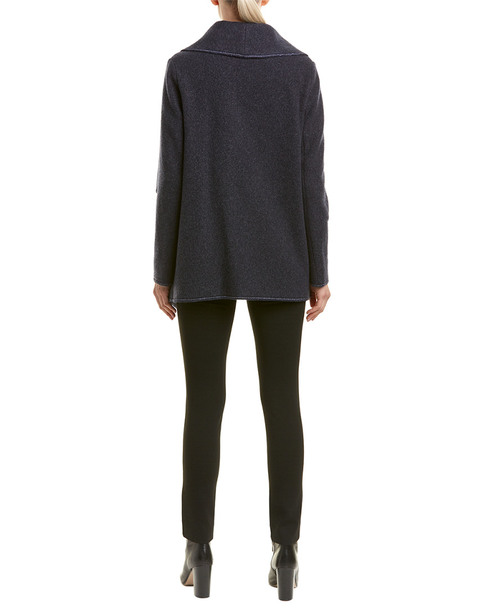 Cinzia Rocca Drape Wool & Cashmere-Blend Coat~1411691097