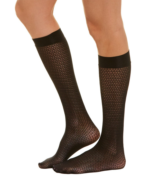 Wolford Rhomb Net Knee-Highs~1412930063