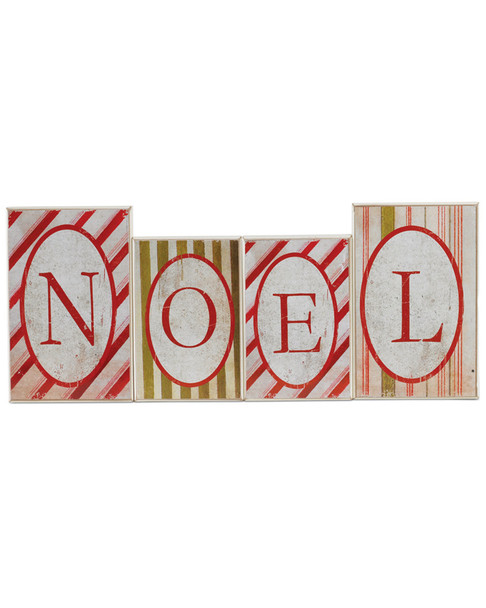 Small Noel Red & Green Striped Bricks~3050656394