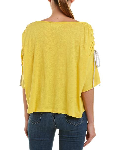 Grey State Selena Linen-Blend Top~1411063925