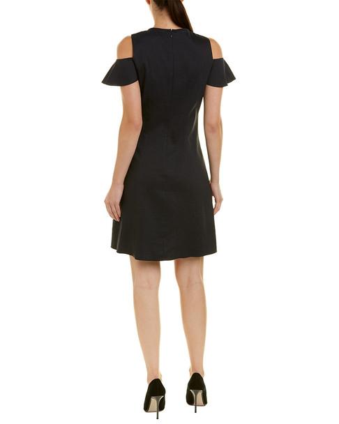 Elie Tahari Linen-Blend A-Line Dress~1411190371