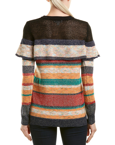 Allison Striped Metallic Sweater~1411387112