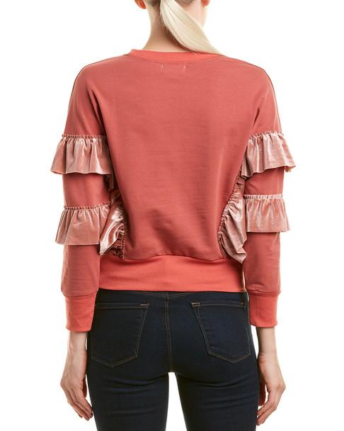 Allison Velvet Ruffled Sweatshirt~1411526071