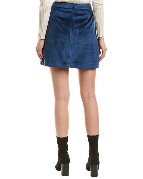 Allison Velvet Button Mini Skirt~1411598538