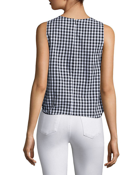Prose & Poetry Evelyn Tie-Front Gingham Crop Top~1411666949