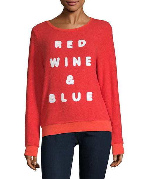 Wildfox Red Wine Long-Sleeve Tee~1411954896