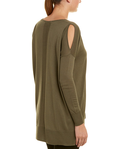Gold Hawk Cold-Shoulder Sweater~1411984308