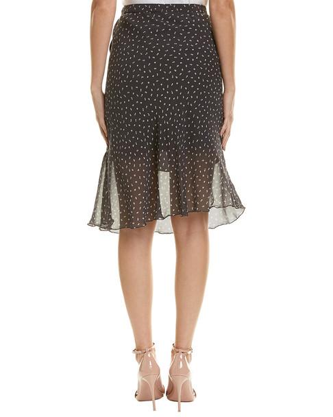 Gold Hawk Printed Silk Skirt~1411984325