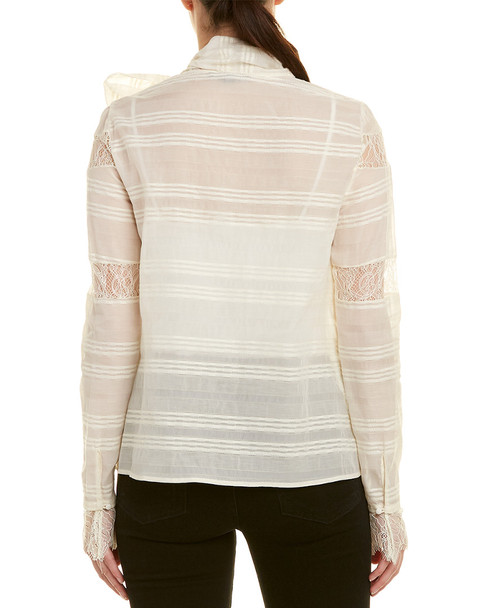 Chelsea and Walker Lace Silk-Blend Blouse~1411989786