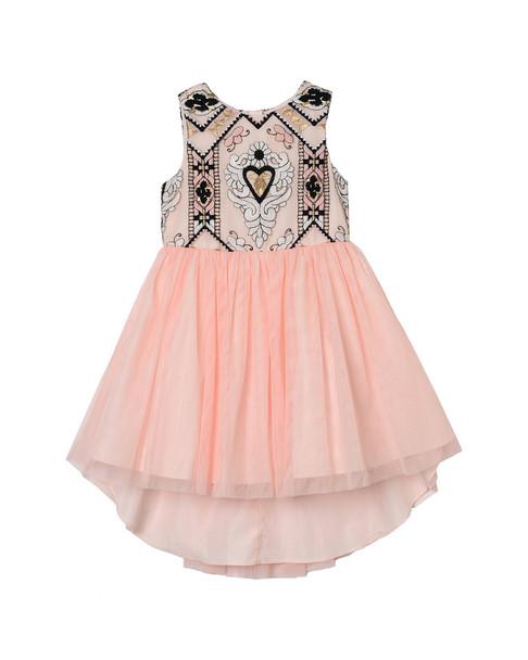 Pastourelle Embroidered Mesh Dress~1511821612