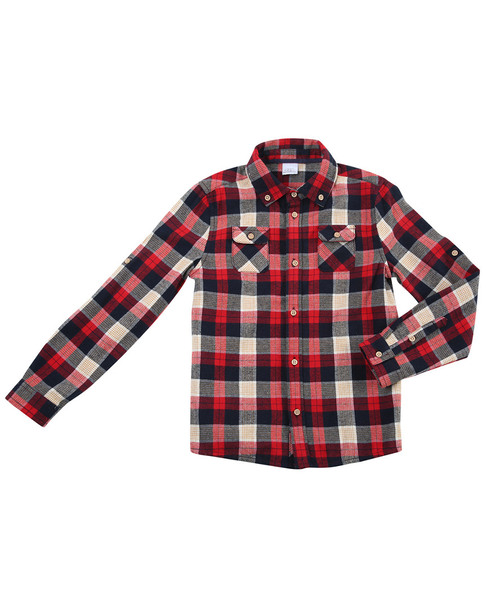 Egg Tyler Plaid Cotton Shirt~1511974599