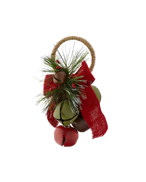 Kurt Adler Set of 6 Grape Bell Hanger Ornaments~3010101810