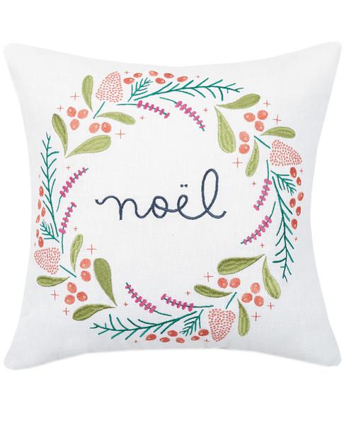 Peking Handicraft Noel Ramie Blend Decorative Pillow~3030716177
