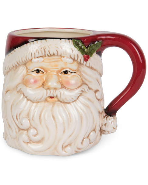 K&K Interiors Santa Face 12oz. Ceramic Mug~3050721821