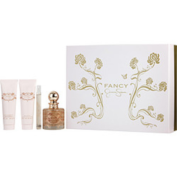 Fancy Eau De Parfum Spray 3.4 Oz & Body Lotion 3 Oz & Shower Gel 3 Oz & Eau De Parfum Spray .34 Oz Mini By Jessica Simpson - For Women