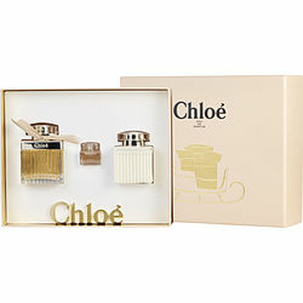 Chloe New Eau De Parfum Spray 2.5 Oz & Body Lotion 3.4 Oz & Eau De Parfum .17 Oz Mini By Chloe - For Women