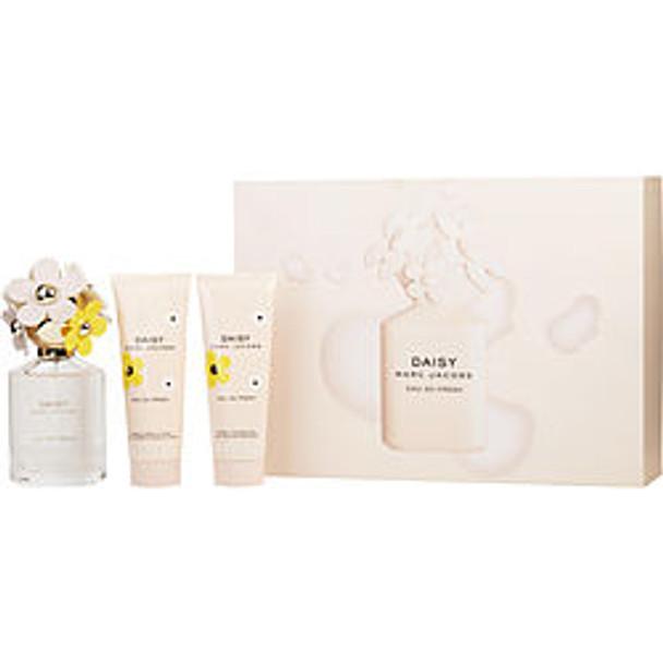 Marc Jacobs Daisy Eau So Fresh Edt Spray 2.5 Oz & Body Lotion 2.5 Oz & Shower Gel 2.5 Oz By Marc Jacobs - For Women