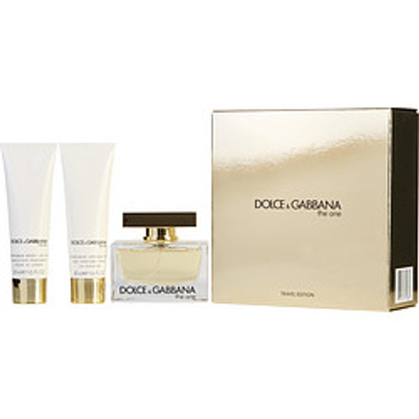 The One Eau De Parfum Spray 2.5 Oz & Body Lotion 1.6 Oz & Shower Gel 1.6 Oz (Travel Edition) By Dolce & Gabbana - For Women