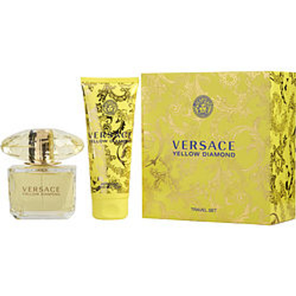 Versace Yellow Diamond Edt Spray 3 Oz & Body Lotion 3.4 Oz (Travel Set) By Gianni Versace - For Women