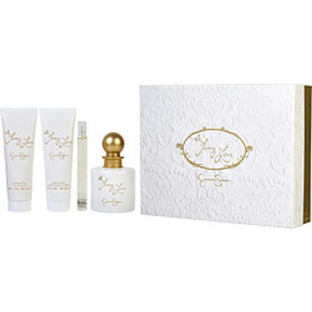 Fancy Love Eau De Parfum Spray 3.4 Oz & Body Lotion 3 Oz & Shower Gel 3 Oz & Eau De Parfum Spray Mini .34 Oz By Jessica Simpson - For Women