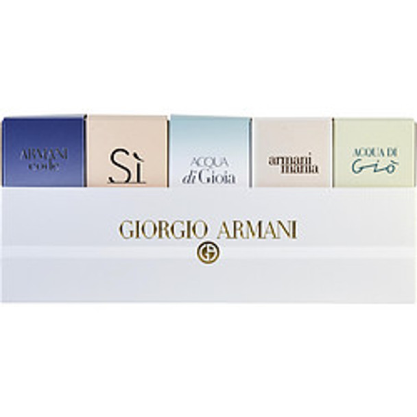 Giorgio Armani Variety 5 Piece Womens Variety With Armani Code & Acqua Di Gio & Armani Si & Acqua Di Gioia & Armani Mania And All Minis By Giorgio Armani - For Women