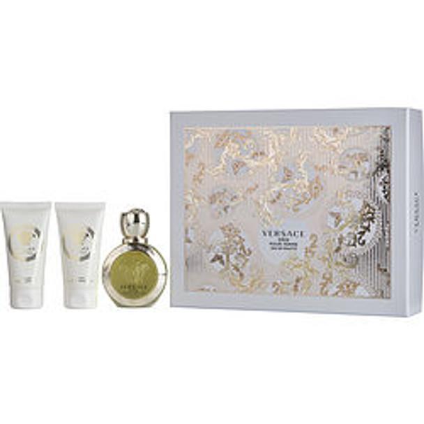 Versace Eros Pour Femme Edt Spray 1.7 Oz & Body Lotion 1.7 Oz & Shower Gel 1.7 Oz By Gianni Versace - For Women
