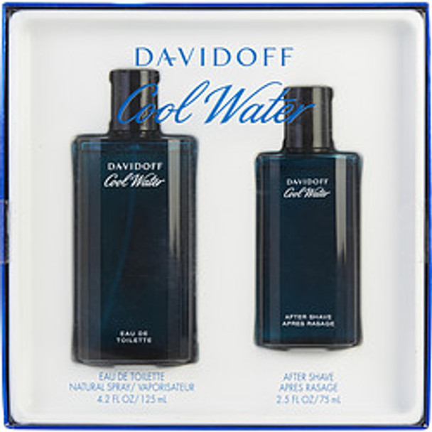 Cool Water Edt Spray 4.2 Oz & Aftershave 2.5 Oz By Davidoff - For Men