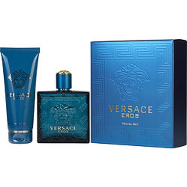 Versace Eros Edt Spray 3.4 Oz & Shower Gel 3.4 Oz (Travel Offer) By Gianni Versace - For Men