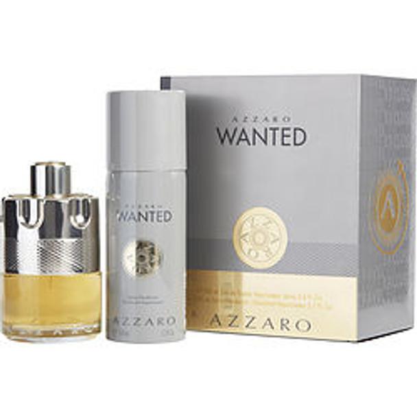 Azzaro Wanted Edt Spray 3.4 Oz & Free Deodorant Spray 5.1 Oz (Travel Offer) By Azzaro - For Men