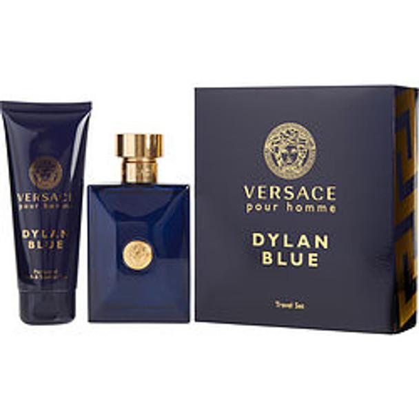 Versace Dylan Blue Edt Spray 3.4 Oz & Shower Gel 3.4 Oz (Travel Offer) By Gianni Versace - For Men
