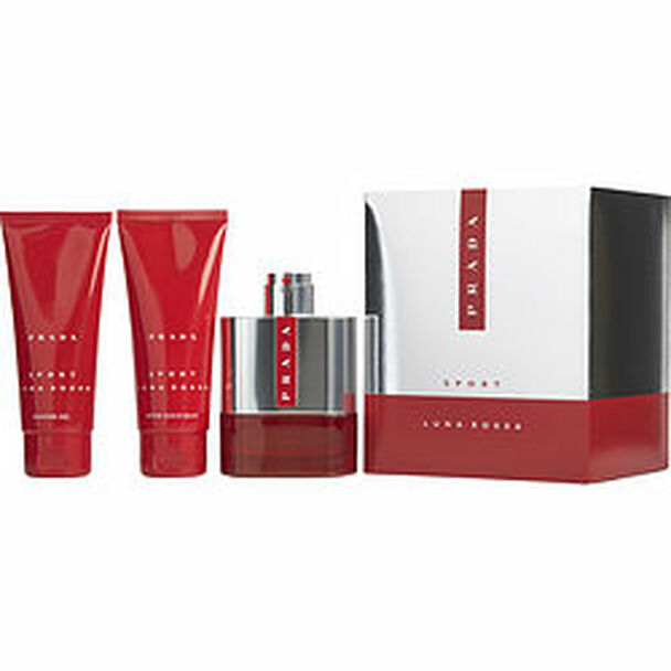 Prada Luna Rossa Sport Edt Spray 3.4 Oz & Aftershave Balm 3.4 Oz & Shower Gel 3.4 Oz (Travel Offer) By Prada - For Men