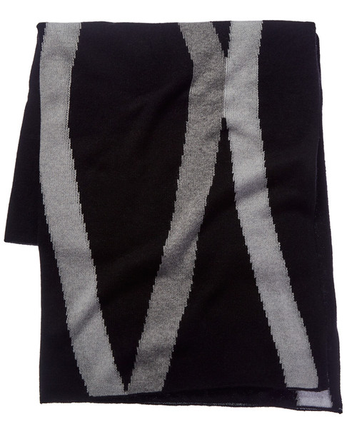 White + Warren Black Cashmere Scarf~1111781176