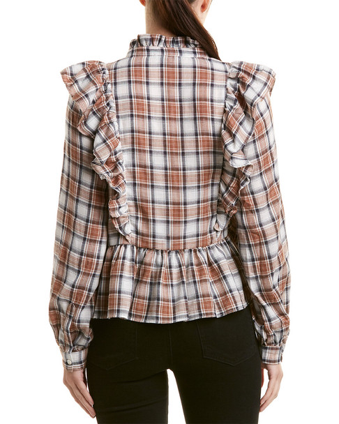Lucca Couture Indiana Peplum Blouse~1411720222
