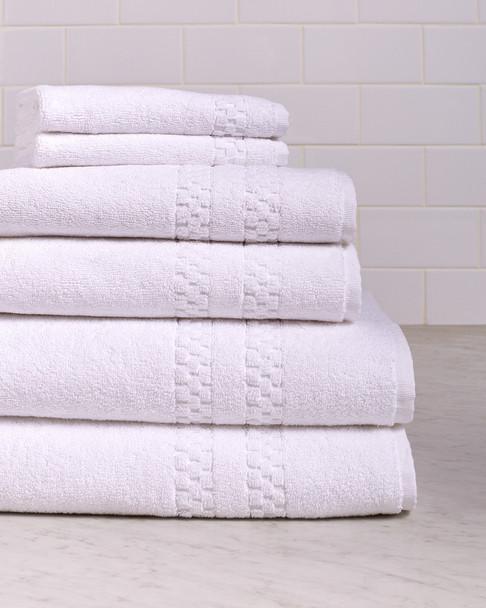 Bellino Checkers Border 6pc Towel Set~3030720745