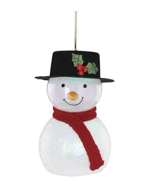 Lenox Wonderball Lit Snowman with Top Hat Ornament~3050702504