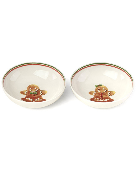 Lenox Set of 2 Lenox Home for the Holiday Gingerbread Bowls~3050702506